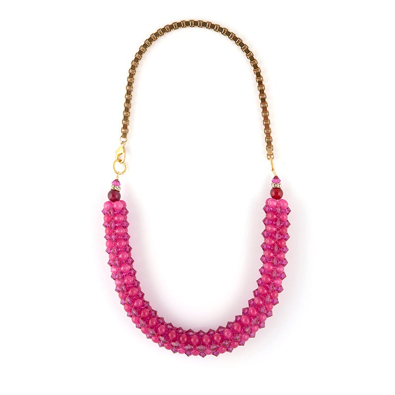 Image of Hot Pink Rope Necklace