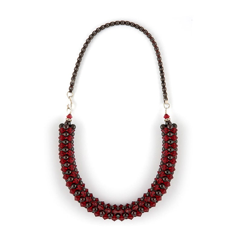 Image of Garnet Rope Necklace