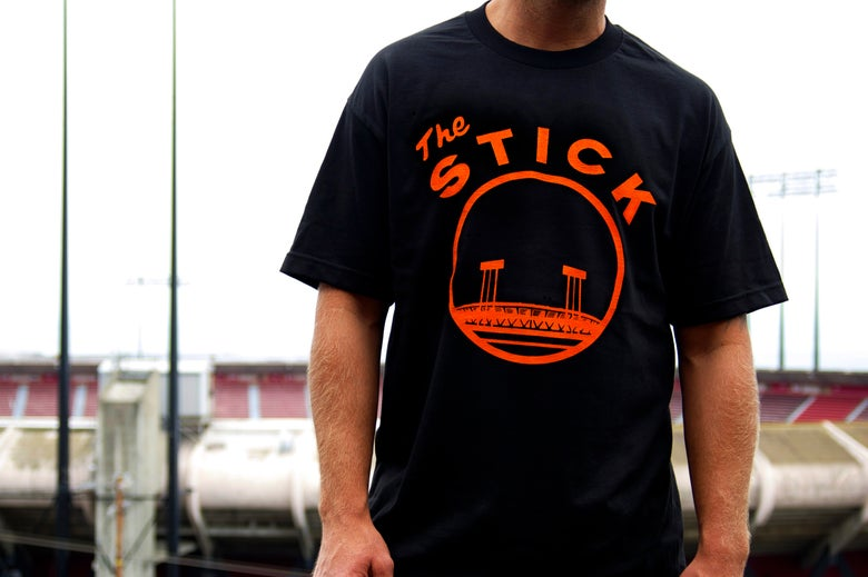 Image of The Stick T-Shirt - San Francisco Giants Candlestick Park T-Shirt