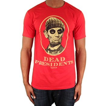 Image of Dead Presidents Tee (Red/Off White)