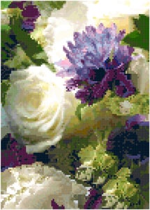 Image of Cross Stitch Pattern My Wedding Bouquet