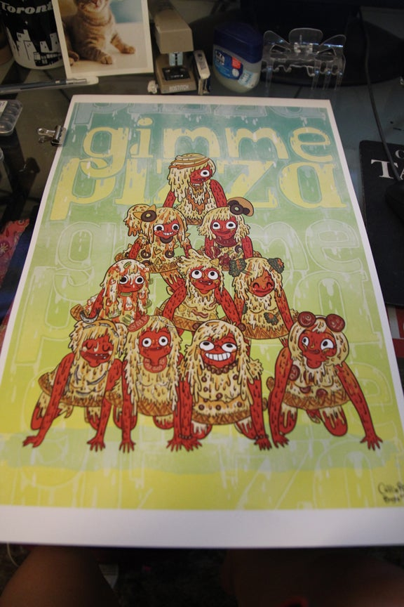 "Image of *GIMME PIZZA* 11"" x 17"" poster print"
