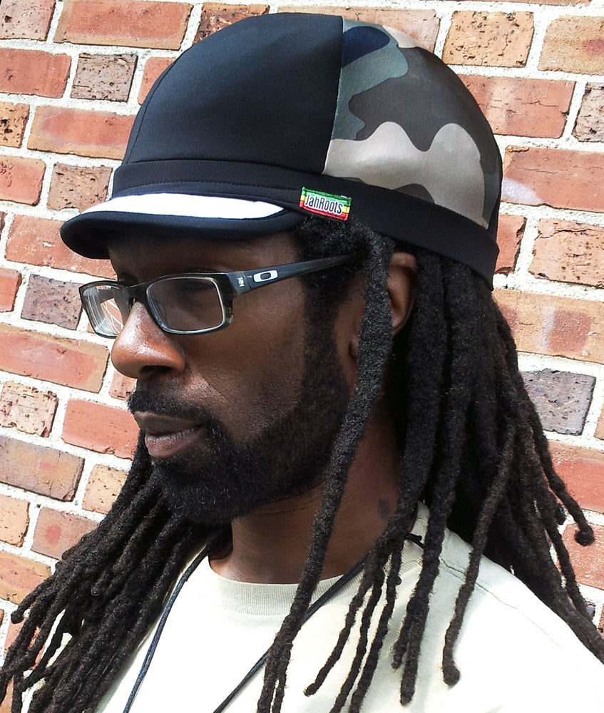 Image of Jah Roots Caps (Camo, Black With White Beak)