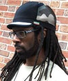 Jah Roots Caps (Camo, Black With White Beak)