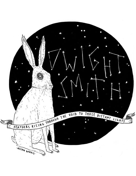 Image of Dwight Smith Rabbit Constellation T-Shirt by Alison Dubois