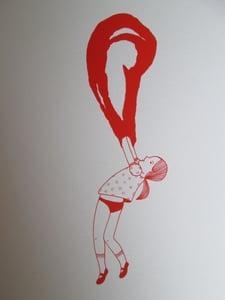 image de Petite fille bulle rouge 2
