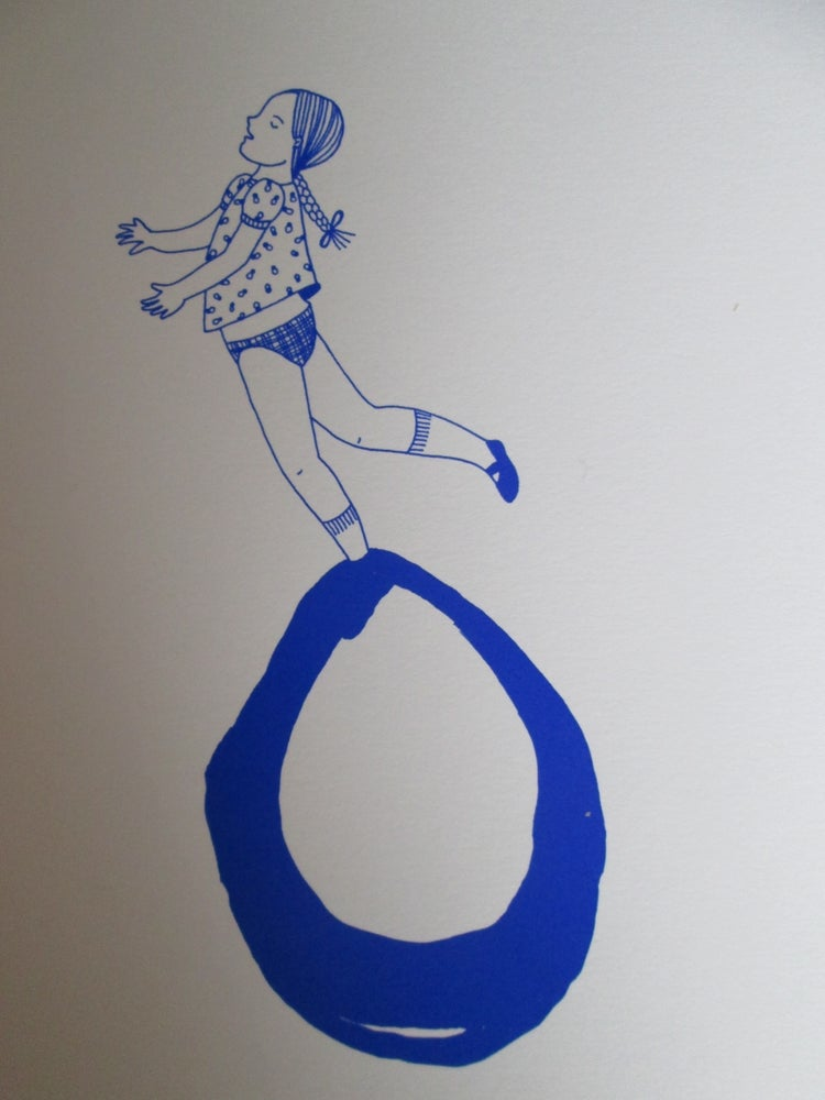Image of Petite fille bulle bleue 3