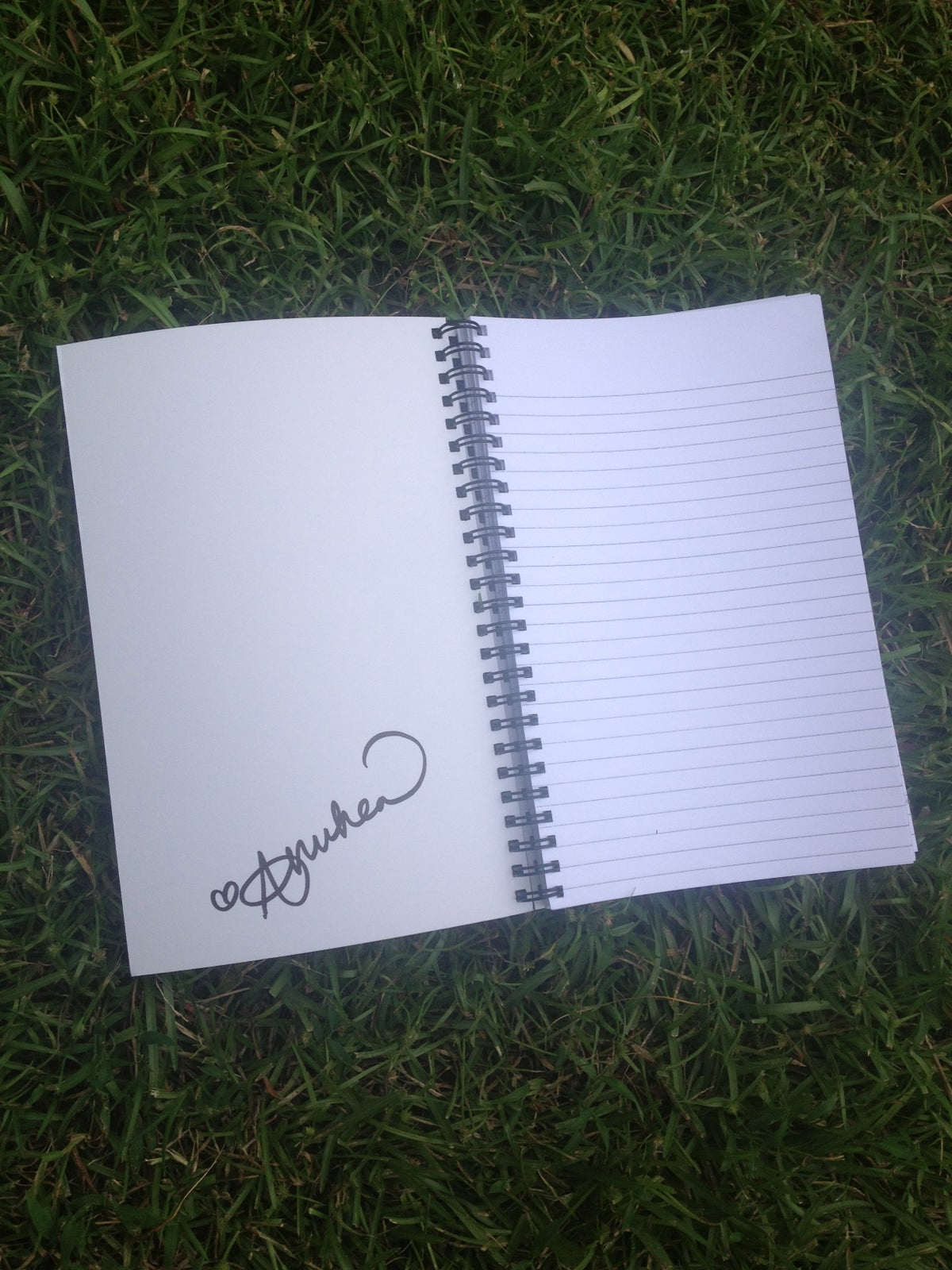 Image of Autographed Songwriting Notebooks