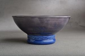 Image of Dottie Shaving Bowl Dark Blue & Sapphire Made To Order