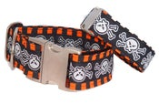 Image of Skulls & Stripes - Dog Collar on UncommonPaws.com