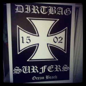 Image of Dirtbag Surfers Iron Cross Poster on Poster Board!