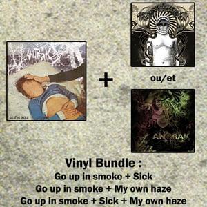 Image of Anorak Vinyl Bundle - Go up in smoke + Sick / My Own Haze (Pre-order)
