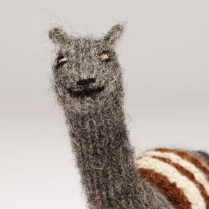 Image of Puppet animal Alpaca grey