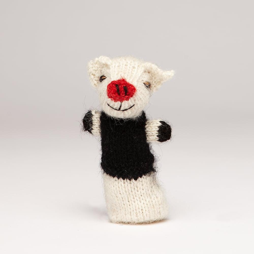 Image of Finger Puppet Pig white