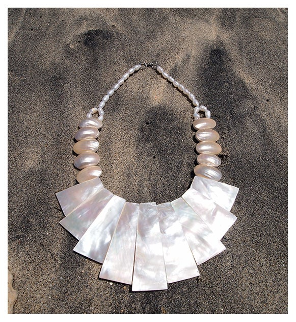Image of lady seashell necklace