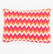 Image of Orange 'Archie' oblong cushion