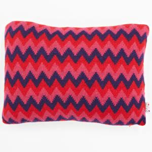 Image of Purple 'Archie' oblong cushion