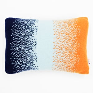 Image of Blue 'Corolla' oblong cushion cushion