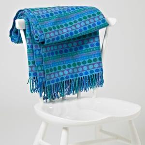 Image of Blue 'Popper Stripe' throw/blanket