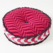 Image of Magenta 'Petal' round cushion