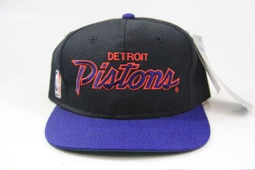 8fae12e3cd11c Image of NBA Detroit Pistons Snapback Hat (SCRIPT) by Sports Specialties