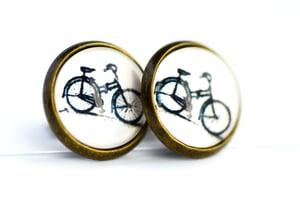 Image of Puce d'oreilles Vélo rétro, bijou bicyclette