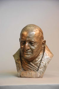 Image of Pope John XXIII- plaster with faux bronze finish