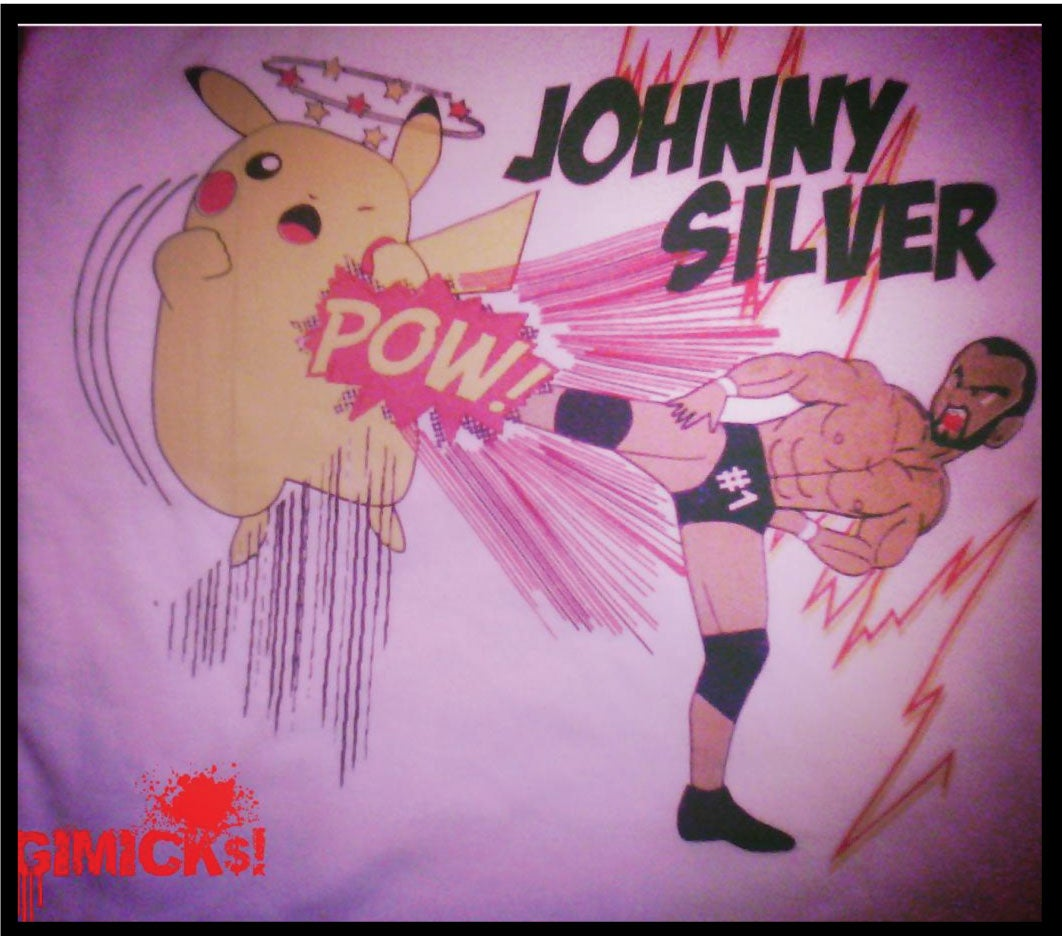 "Image of Johnny Silver ""Super Kick Pikachu"" T-shirt"