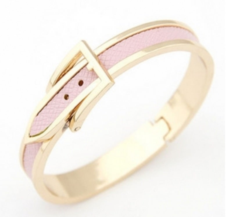 Image of Buckle Style Embellished Bracelet
