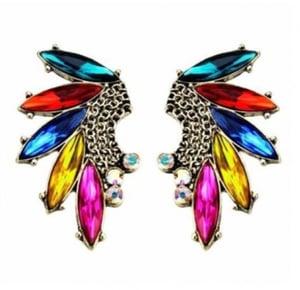 Image of Multi-Color Tassels Embellished Earrings
