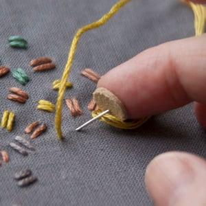 Image of Fingerbøl, selvklæbende læder prikker