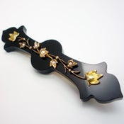 Image of 14K Antique Victorian Onyx Seed Pearl Mourning Brooch