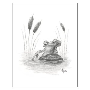 "Image of ""Marsh Mellow"" Frog Print"