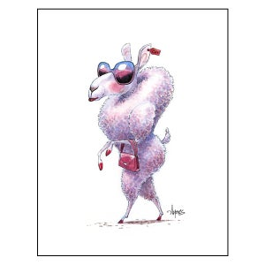"Image of ""Le Chic Sheep"" Print"