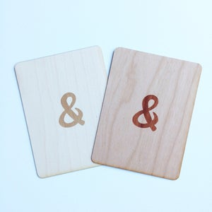 "Image of Ampersand 3""x4"" Wood Veneer Card"