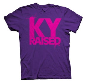 Image of KY Raised FEMALE Tee in Royal Purple & Hot Pink