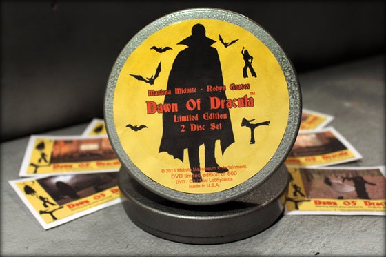 Image of Limited Edition Dawn of Dracula 2 Disc DVD Film Can Set!