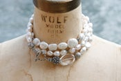Image of Triple Wrap White Baroque Pearls