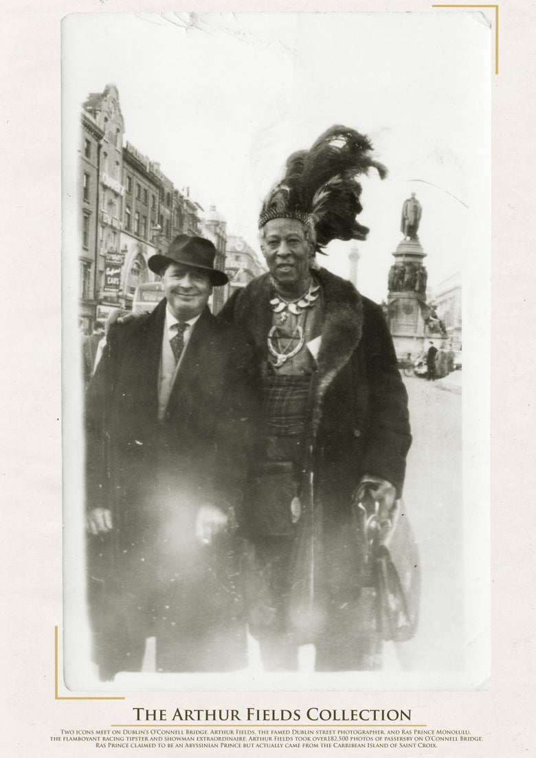 Image of Limited Edition Poster: Prince Monolulu meets street photographer Arthur Fields
