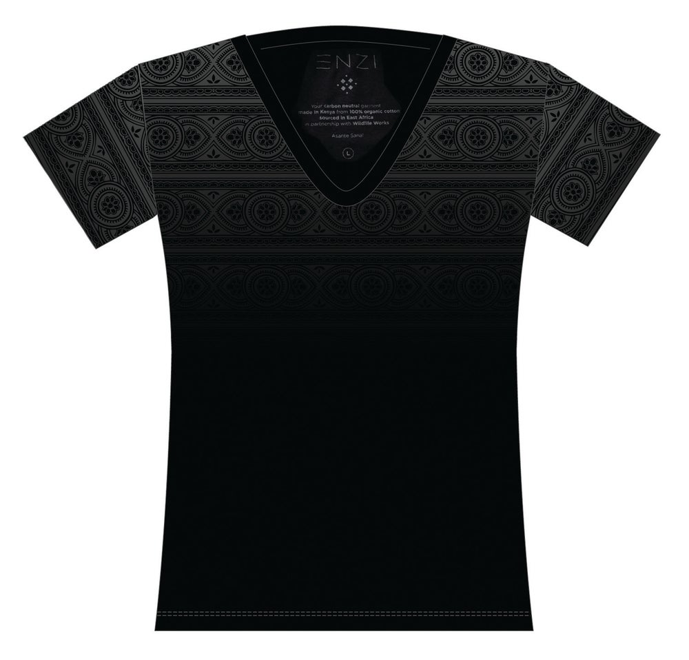 Image of  Black women's V-neck