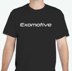 Image of Black Exomotive Logo T-Shirt