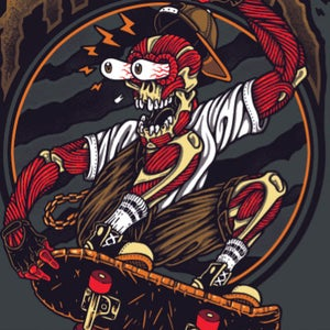 "Image of ""MUSCLE BOY THRASHER"" Action-Tee"