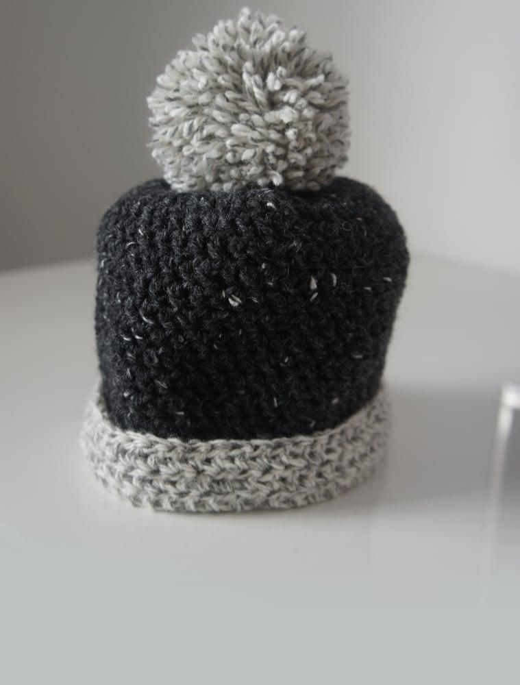 41a427a2532 Two Tone Pom Pom - Baby Hat   Woolly headed