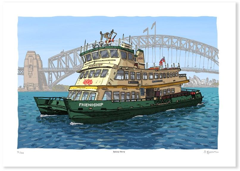 Image of Sydney Ferry Limited Edition Digital Print