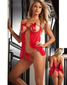 Image of RED SHORT VALENTINE DRESS