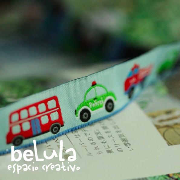 Image of Cinta de tela: bus y coches