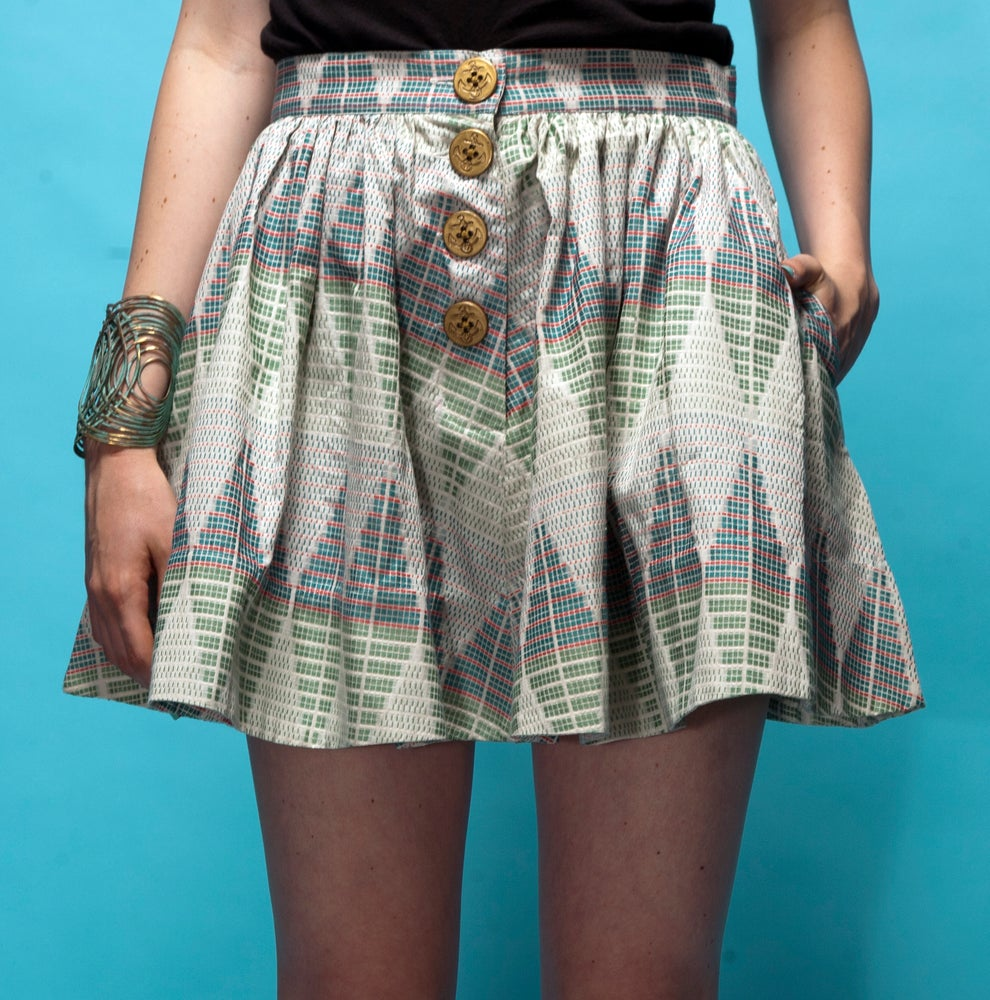 "Image of ""Plaza Sur"" Full Skirt with Pockets"