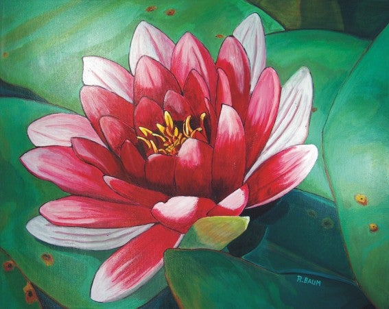 Painting On Canvas Lotus Flower Rachelle Hartley Creative