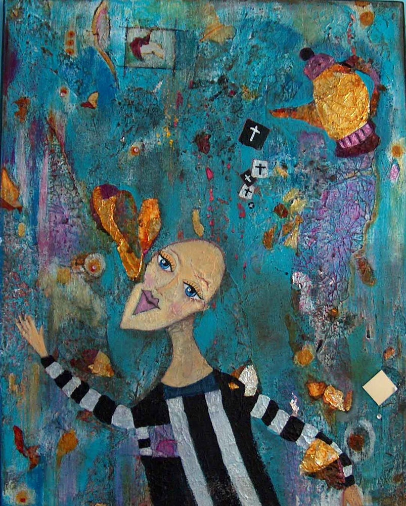 Image of Mixed Media Painting on Canvas: Soul Retrieval