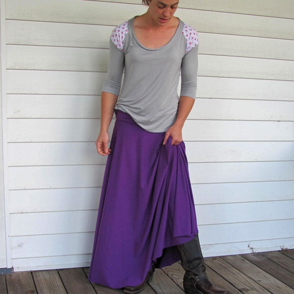 Image of Circle Maxi Skirt - Royal Purple